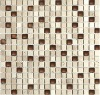1.5x1.5 Glass mosaic with nature stone bronze GK1552SD