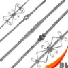 2011 new design wrought iron balusters for staircase railings