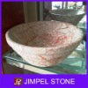 Agate Red Marble Vessel Sink
