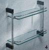 Bathroom dual glass shelf