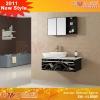 Double mirror bathroom cabinet EM-AL8095
