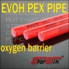 EVOH pex pipe with oxygen barrier