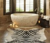 Freestanding White Marble carved Bathtub
