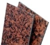 Imperial red marble aluminum composite board