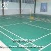 Indoor Badminton Court Floor,Green Color,Lichee Pattern