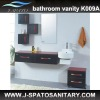 MFC material tall bathroom vanities and cabinets JS-K009A
