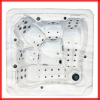 (Manufactory)CE certificate outdoor massage hot tub for wholesale,rectangular hot spa tub