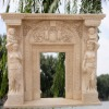 Marble Egypt Cream-Colored Fireplace