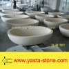Natural Stone Beige Bathroom Bathtub