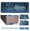 Newly design big swim spa hot tub 5900m x 2250m x 1320mm H