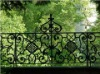 Outside forged iron garden fence