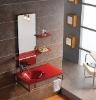 Red bathroom furniture vanity(JQ030)