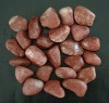 Red pebble paving stone