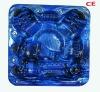 S600 modern design led lighting 91 jets 6 seater outdoor whirlpool