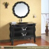 Traditional Cabinet with Glass Vanity Top