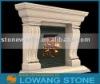 Western style winter fireplace