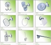 \bathroom accessory,sanitary ware,towel rail,towel bar,towel ring,paper holder
