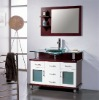glass wash basin bathroom cabinet furniture 50060