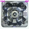 hot selling led lighting 5 seater 2 lounger 61 jets portable spa S520