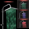 led rain top shower head / big square waterful overhead shower