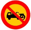no tractor Sign
