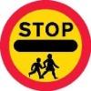 round Children Road caution Sign