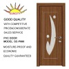 single-leaf PVC Interior door with glass SC-P080