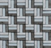 stone mix stainless steel mosaic tile MJG1542