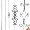 wrought iron picket for gate fence stair railing