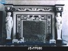 Marble fireplace surround with human statue